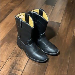Boys Justin Black boots